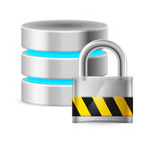 Database icon off Royalty Free Stock Photography