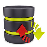 Database icon Stock Photo