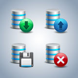 Database Icon set # 2 Stock Photography