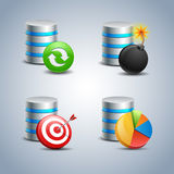 Database Icon set # 7 Stock Photo