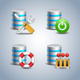 Database Icon set # 6 Stock Photography