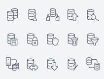 Database icon set Stock Photography