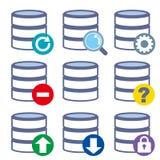 Database icon set - 9type