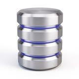 Database icon. On white background stock illustration