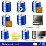 Database Icons 1 Stock Photos