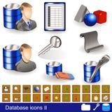 Database Icons 2 Stock Photo