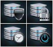 Database Icons Royalty Free Stock Images