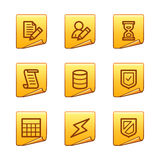 Database icons Stock Image