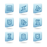 Database icons Stock Photography