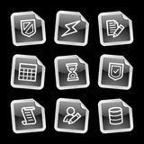 Database icons Royalty Free Stock Photos