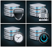 Database icons Royalty Free Stock Images