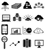 Database icons set Royalty Free Stock Images