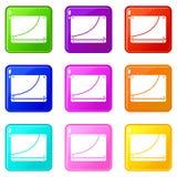 Database icons 9 set Stock Photos