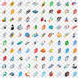 100 database icons set, isometric 3d style. 100 database icons set in isometric 3d style for any design vector illustration Stock Illustration