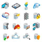 Database icons set Royalty Free Stock Image