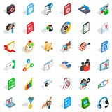Database icons set, isometric style. Database icons set. Isometric style of 36 database vector icons for web isolated on white background Stock Photography