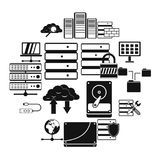 Database icons set. In simple style for any design Royalty Free Stock Image
