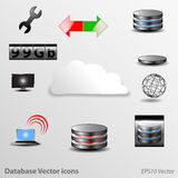 Database Icons Vector Stock Photography