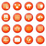 Database icons vector set Royalty Free Stock Images