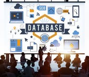 Database Information Server Storage Technology Concept Royalty Free Stock Images