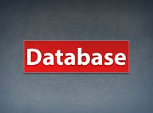 Database Red Banner Abstract Background vector illustration