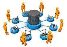 Database Laptops Manikins Stock Photography