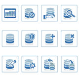 Database Management icon. A set of web icons with light reflections royalty free illustration