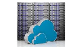 Database met 3D wolken Royalty-vrije Stock Foto's