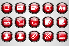 Database and Network icons Stock Image