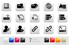Database & network icons |part 14 series 7 Royalty Free Stock Images
