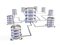 Database Networking concept Stock Photos