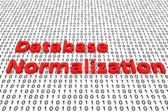Database normalization Royalty Free Stock Images