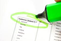 Database planning Stock Photo