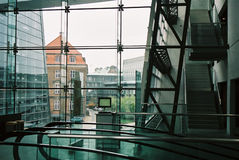 Database post. Copenhague, The Royal Library, so called Black Diamond - database post. Architect's terms of use - firm name Architects: Schmidt, Hammer & Lassen royalty free stock photos