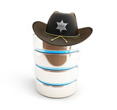 Database protected sheriff hat Stock Photo