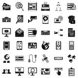 Database protection icons set, simple style. Database protection icons set. Simple style of 36 database protection vector icons for web isolated on white Royalty Free Stock Photo