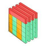 Database query table icon, cartoon style royalty free illustration