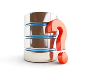 Database question mark Royalty Free Stock Images