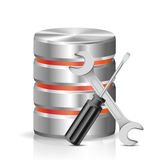 Database with repair tools Stock Photography