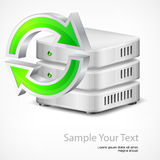 Database with round arrow Royalty Free Stock Photo
