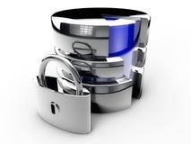Database security chrome Stock Image