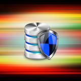 Database  security concept  on  Abstract  background Royalty Free Stock Images