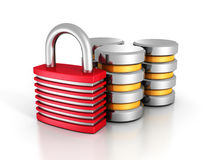 Database Security Concept With Padlock Stock Images