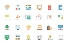 Database and Server Colored Vector Icons 3. This database and server  icons pack is loaded with awesome s that would be absolutely perfect for any web developer Royalty Free Stock Photography