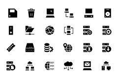 Database and Server Colored Vector Icons 2 Royalty Free Stock Photo