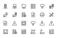 Database and Server Colored Vector Icons 1 Stock Images
