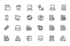 Database and Server Colored Vector Icons 2 Stock Images