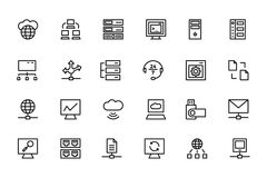 Database and Server Colored Vector Icons 4 Stock Image