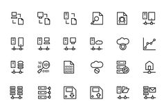 Database and Server Colored Vector Icons 5 Royalty Free Stock Photography