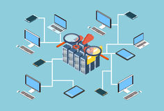 Database Server Search Data 3d Isometric Design Stock Photography